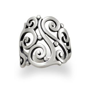 James Avery Silver Open Sorrento Ring Size 8